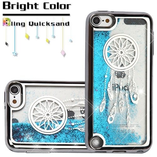 Apple iPod Touch 5 5th Gen / 6 6th Gen Case, Kaleidio [Quicksand Glitter] TPU Gel Slim Fit
