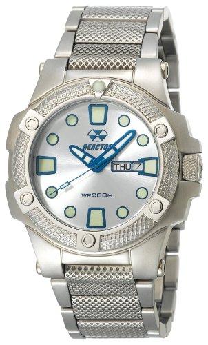 - REACTOR Men's 72002 Meltdown Silver Dial Stainless Steel Bracelet Watch