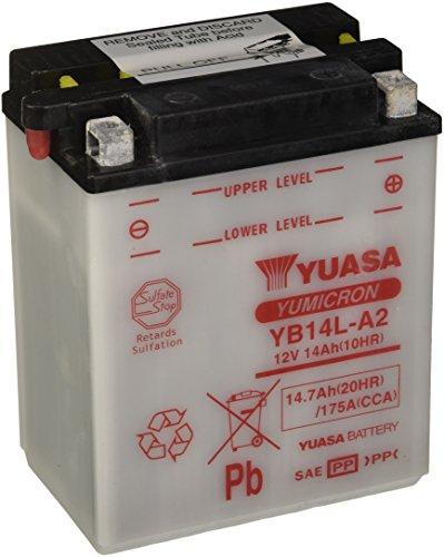 YUASA Batterij YB14L-A2 open zonder zuur