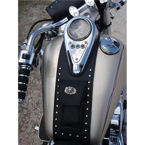 Kawasaki VN800 CLASSIC VULCAN MODEL LEATHER TANK CHAP BIB WITH POUCH