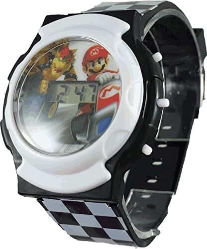 Nintendo Kids' NMK3413 Mario Flashing LCD Watch