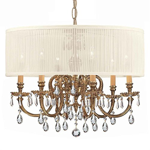 Crystorama 2916-OB-SAW-CLS Traditional / Classic Olde Brass Chandelier Brentwood Collection ()