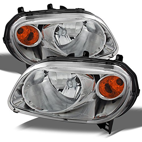 Chevy HHR Amber Chrome Bezel OE Replacement Headlights Driver/Passenger Head Lamps Pair (Headlight Assembly Hhr)