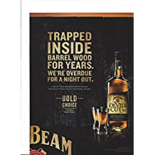 MAGAZINE AD For 2011 Jim Beam Devil's Cut Whiskey: Trapped Inside Barrel