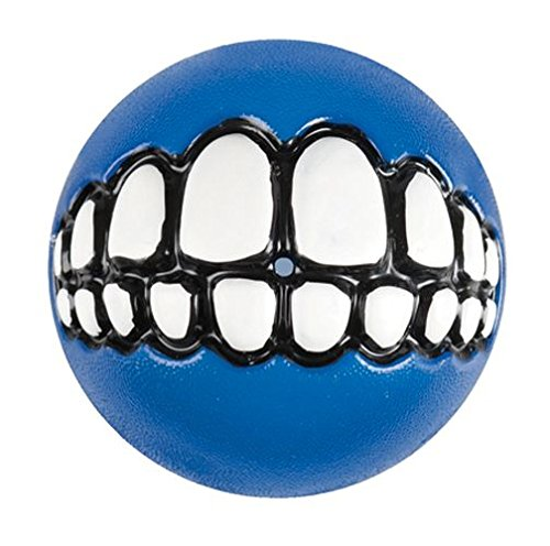- Rogz Fun Dog Treat Ball in various sizes and colors, Large, Blue