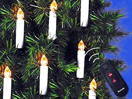 mebarra 10 pcs flameless candles with remote control cordless led christmas tape candles christmas lights