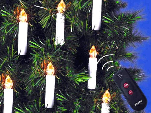 mebarra 10 pcs flameless candles with remote control cordless led christmas tape candles christmas lights by