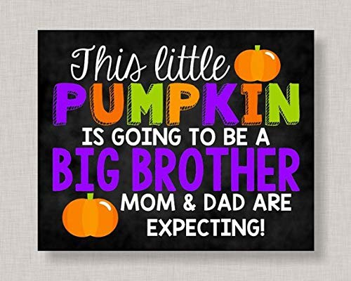 Mildred Rob Halloween Pregnancy Announcement SignHalloween Big Brother Pregnancy AnnouncementPumpkin Pregnancy Announcement Halloween Pregnancy Reveal ()