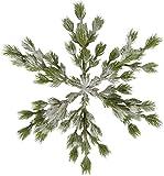 JMB 20'' ICY Snowy Pine Snowflake Decoration