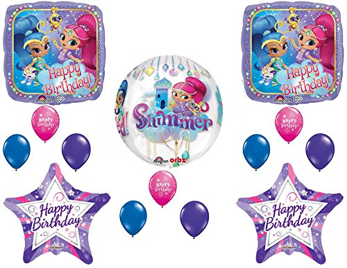 Amazon Shimmer And Shine Happy Birthday Party Balloons With Orbz Forever Balloon Toys Games