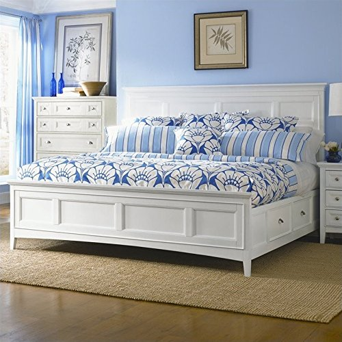 Magnussen Kentwood Panel Bed With Storage in White - Queen