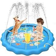 "UTOPB Sprinkler for Kids Dogs, 68"" Sprinkler Splash Mat Pad, Outdoor Lawn Water Toys, Kids Baby Wading Sw"