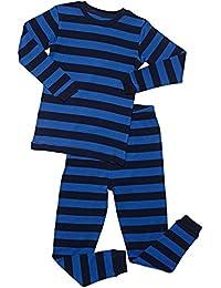 "Boys ""Striped"" 2 Piece Pajama Set Top & Pants 100% Cotton (Size Toddler-14 Years)"