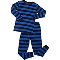 Leveret Striped Kids & Toddler Boys Pajamas 2 Piece Pjs Set 100% Cotton Sleepwear (Toddler-14 Years)