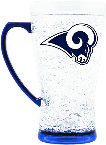 Duck House NFL Los Angeles Rams 16oz Crystal Freezer Flared (Louis Rams Mug)