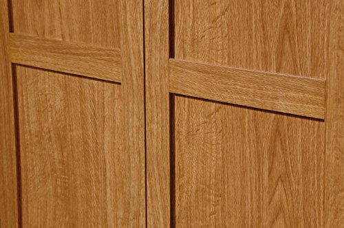 Sauder Storage Cabinet Highland Oak Finish New Ebay