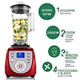 2000W Countertop Blenders,30500RPM High Speed Professional Smoothie Blender with Glass Jar