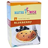 NutriWise - High Protein Diet Pancakes | Blueberry | Low Calorie, Low Fat, Low Sugar (7/Box)