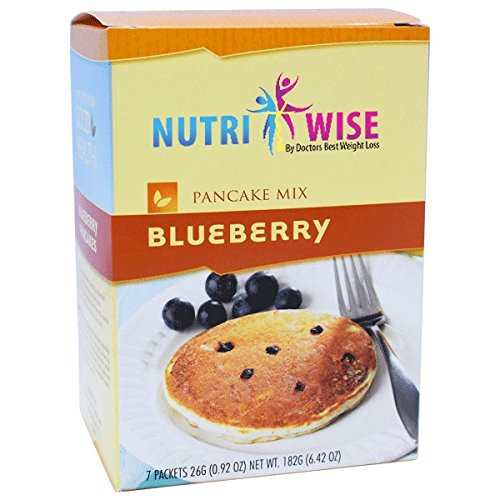 NutriWise - High Protein Diet Pancakes   Blueberry   Low Calorie, Low Fat, Low Sugar (7/Box) by NutriWise
