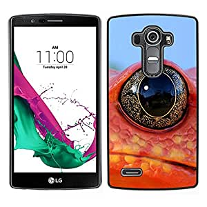 // PHONE CASE GIFT // Duro Estuche protector PC Cáscara Plástico Carcasa Funda Hard Protective Case for LG G4 / Cool Frog Lizard Neon eye /