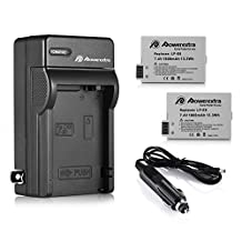 Powerextra 2 Pack Replacement Canon LP-E8 1800mAh Li-ion Battery With Charger for Canon Rebel T3i, T2i, T4i, T5i, EOS 600D, 550D, 650D, 700D, Kiss X5, X4, Kiss X6, LC-E8E(Free car charger available now)