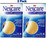 Nexcare Absolute Waterproof Adhesive Gauze Pad, 3 Inches X 4 Inches (Pack of 2)