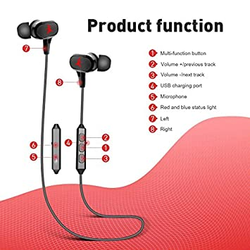 Bluetooth Headphones, Wireless Earbuds Sport in-Ear Sweatproof Earphones with Mic Bluetooth 4.1, aptx, Stereo Bass,8 Hours Playing Time,Secure Fit Design and Magnetic Switch