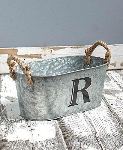 Galvanized Monogram Bucket R