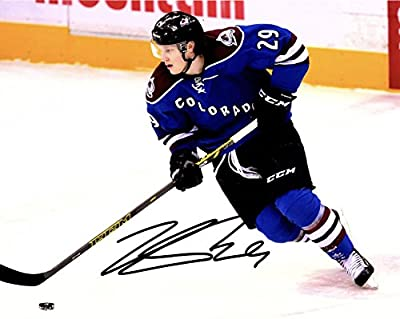 NATHAN MacKINNON AUTOGRAPHED Hand SIGNED 8x10 PHOTO Colorado Avalanche w/COA