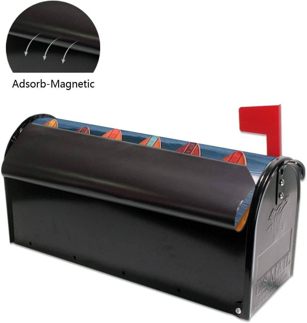 21x18 in Ybrktl15- Surfboard Durable Mailbox Covers Standard Size Magnetic Mail Wraps Cover Letter Post Box