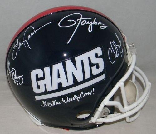 Lawrence Taylor Harry Carson Banks Reasons Signed New York Giants Proline Helmet (Autographed Giants Pro Line Helmet)