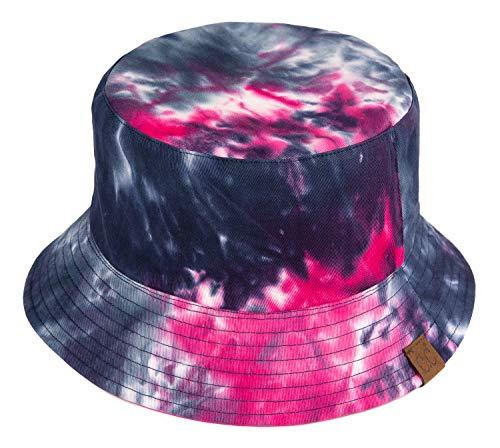 Funky Junque Bucket Hat Packable Outdoor Hiking Camping Fishing Mens Boonie Cap (Reversible - Tie Dye/Hot Pink)]()
