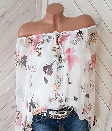 T Bateau Mode Blouse Casual Tees New Tops Shirts Automne Blanc Tunique Shirts Hauts Longues Chemisiers Printemps Col Manches Imprime Femmes et xq0qgO6P