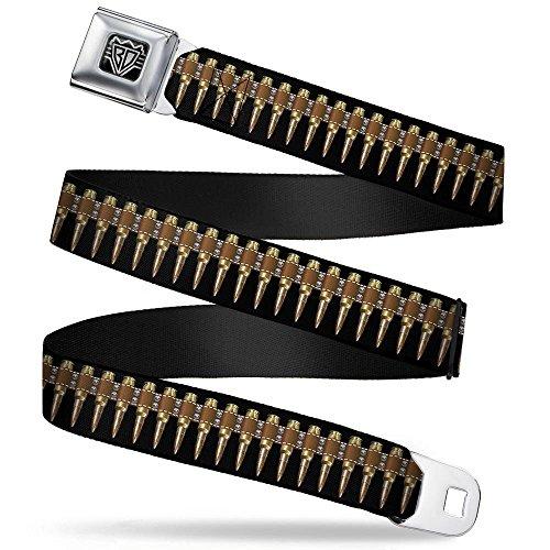 - BUCKLE-DOWN INC. Unisex-Adult's Buckle-Down Seatbelt Belt Bullets Regular, Multicolor, 24-38 Inches