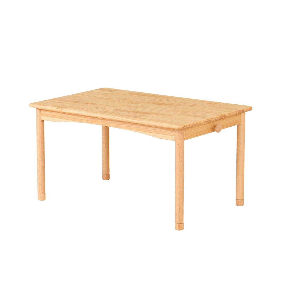 BEATON JAPAN キッズテーブル 子供 テーブル 机 天然木 ナチュラル 学習 (60cm) B078N1GXZ5 60cm 60cm