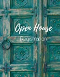 img - for Open House Registration: Registry Book for Real Estate Agents - Guest & Visitors Signatures - Prospects Sign In - Blue Door - Property Developers book / textbook / text book