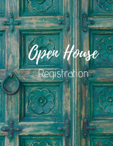 - Open House Registration: Registry Book for Real Estate Agents - Guest & Visitors Signatures - Prospects Sign In - Blue Door - Property Developers