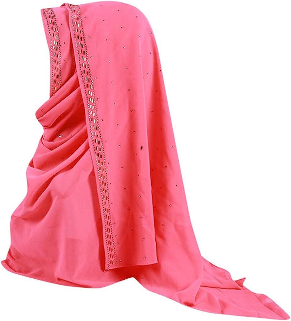 HYIRI Womens Trilby Gangster Muslim Ruffle Hijab Scarf Shawl Head Wrap