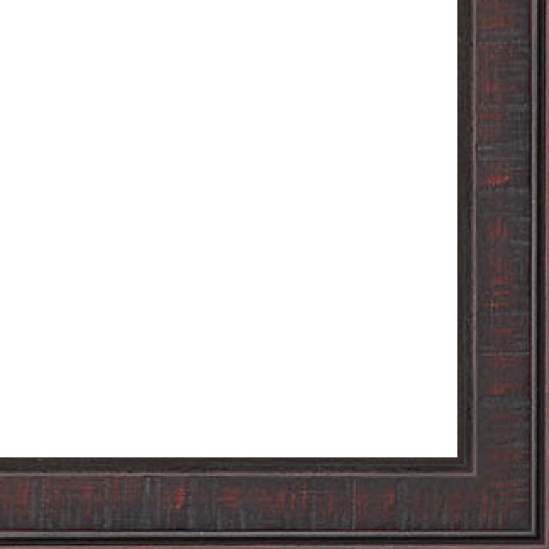 7//16 Rabbet Depth Distressed//Aged Mahogany Finish 0.75 Width Wood Picture Frame Moulding 18ft Bundle