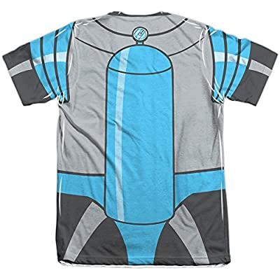 Batman The Animated Series Mr Freeze Uniform Mens Sublimation Shirt White 2X