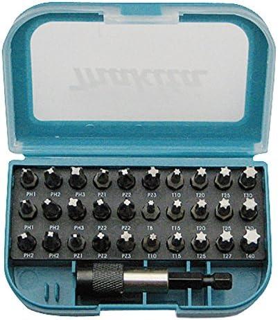 DDF484RTJ Makita P-73374 Bit-Set 31tlg Makita Akku-Bohrschrauber 18 V//5.0 Ah mit 2 Akkus und Ladeger/ät im MAKPAC