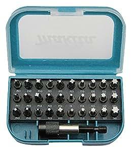 Makita P-73374 punta de destornillador - puntas de destornillador (Phillips, Pozidriv, Torx, 2xPH1, 4xPH2, 2xPH3, 2XPZ1, 4xPZ2, 2xPZ3, 1xT8, 2xT10, 2xT15, 2xT20, 3xT25, 1xT27, 2xT30, 1xT40.)