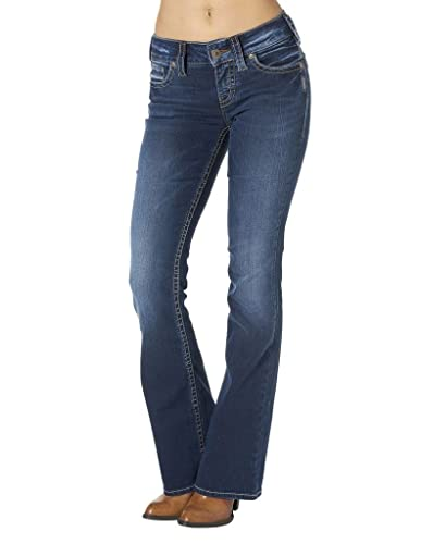 Silver Jeans Co. Women's Jeans Suki Rise Bootcut Jean with Back Flap