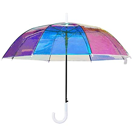 Queen Boutiques Fácil de Plegar Paraguas Transparente ...