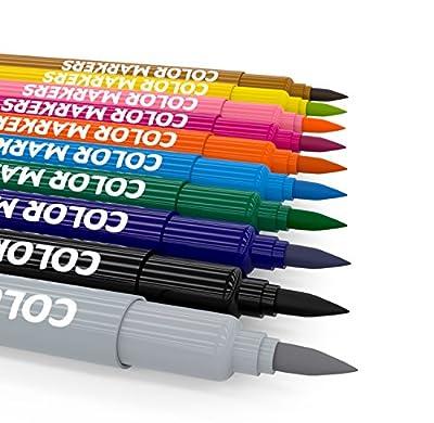Brush Pen Set 12 Color Dual Tip Markers - Calligraphy Lettering Paint Art Manga