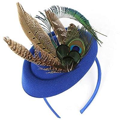 BABEYOND Fascinators Hat Derby Pillbox Hat Cocktail Tea Party Feather Headband