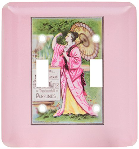 3dRose lsp_153657_2  The Genuine Murray and Lanman Florida Water Perfumes Asian Woman with Parasol Double Toggle Switch