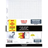 "Five Star Filler Paper, Graph Ruled, Reinforced, Loose-Leaf, 11 x 8 1/2"" Sheet Size, 100 Sheets/Pack (17012)"