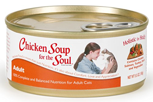 Chicken Soup for the Cat Lover's Soul Canned Food for Adult Cats, Chicken Flavor (Pack of 24, 5.5 Ounce Cans)