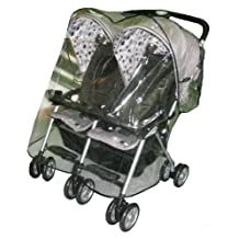 Sashas Rain and Wind Cover for Combi Twin Side by Side Stroller by Sasha Kiddie Products